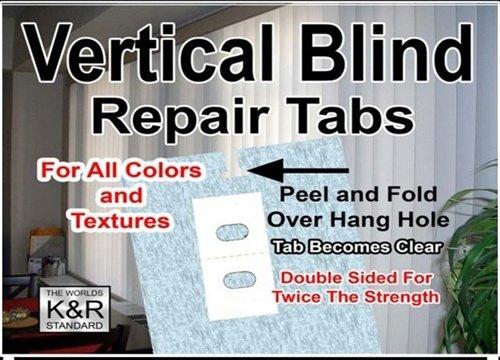 As Seen On TV Vertical Blind Repair Tabs, 10 Tabs