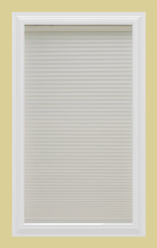 Calyx Interiors Cordless Honeycomb 9/16-Inch Cellular Shade, 22-Inch Width by 60-Inch Height, Light Filtering White