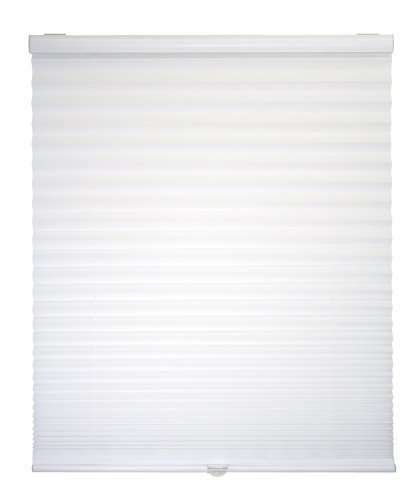 """Cordless Pleated Shade 23 """" W X 64 """" L – White"""