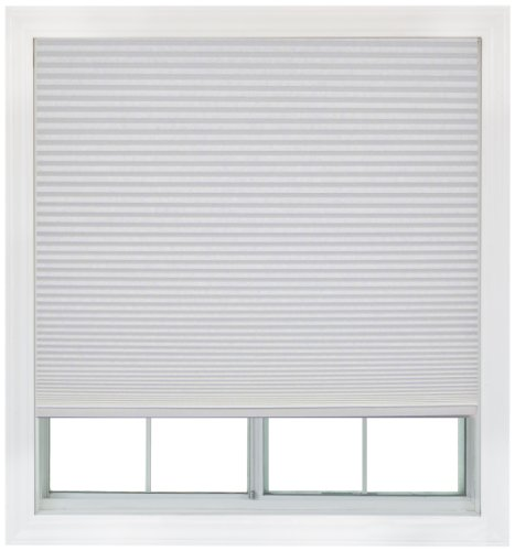 Easy Lift, 36-inch by 64-inch, Trim-at-Home (fits windows 21-inches to 36-inches wide) Cordless Honeycomb Cellular Shade, Light Filtering, White