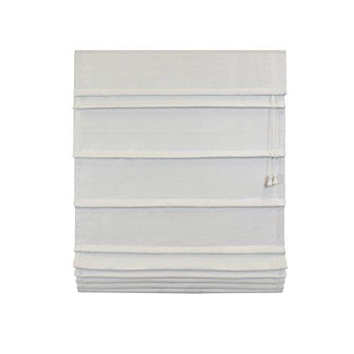 Lewis Hyman 1503237 Room-Darkening China Thermal Fabric Roman Shade, 23 x 72″, White