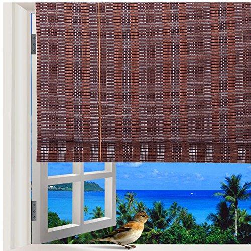Natural Bamboo Roll Up Window Blind Roman Sun Shade WB-48N1 (W30″ X H72″)