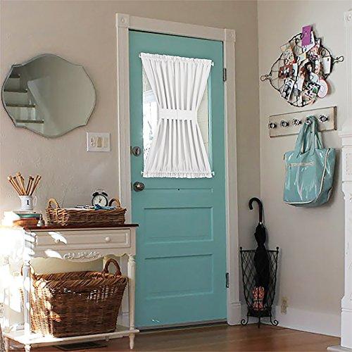 Nicetown Window Treatment Room Darkening French Door Curtains (One Panel, 54″ Wide x 40″ Long, Platinum)
