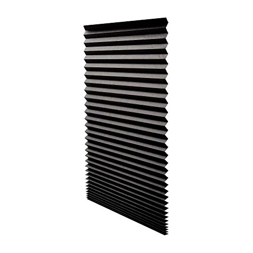 Quick Fix Blackout Pleated Paper Shade Black, 36″ x 72″, 6 Pack