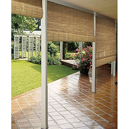Radiance 0360486 Natural Woven Reed Light Filtering Roll Up Window Blind, 48-Inch Wide by 72-Inch High