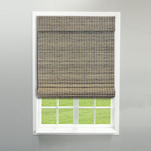 RADIANCE 2208824E Cordless Privacy Weave Roman Shade Espresso, 23-Inch High by 64-Inch Wide