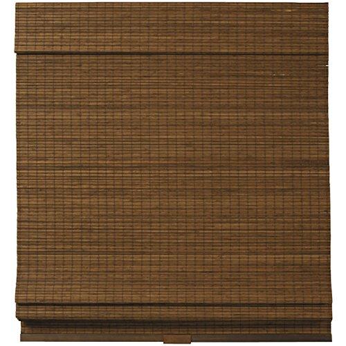 Cordless Woven Wood Bamboo Roman Shade Brown (27×64)